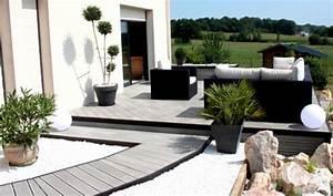 Modele De Terrasse Exterieur : modele jardin contemporain ~ Teatrodelosmanantiales.com Idées de Décoration