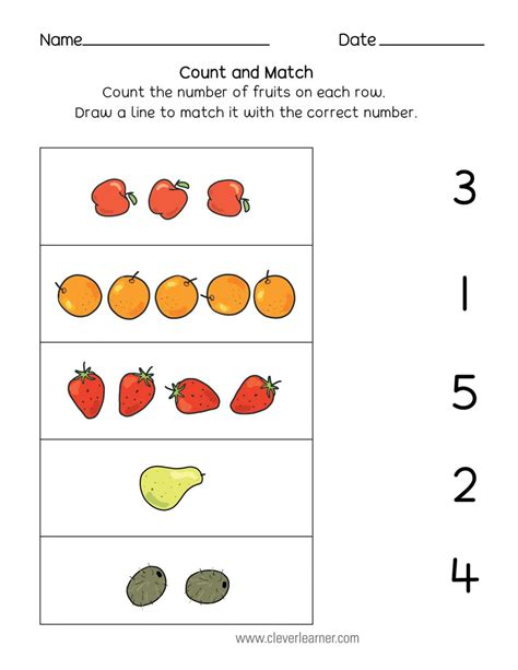 match numbers worksheet  preschool numbersworksheetcom