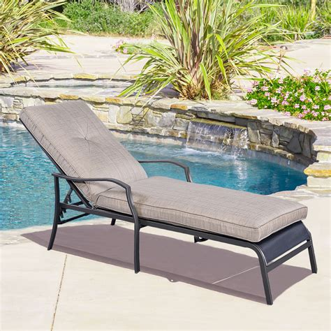 Adjustable Pool Chaise Lounge Chair Recliner Outdoor Patio