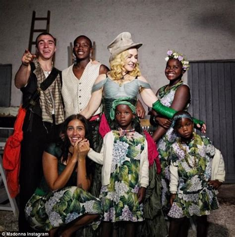 Madonna shares family photo with all six of her children ...