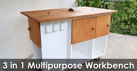 Homemade 3 In 1 Multipurpose Workbench Table Saw, Router