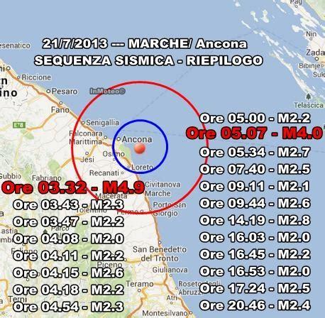 Meteo Porto Recanati Domani by Terremoto Oggi Marche Ancona 29 Luglio 2013 Scossa