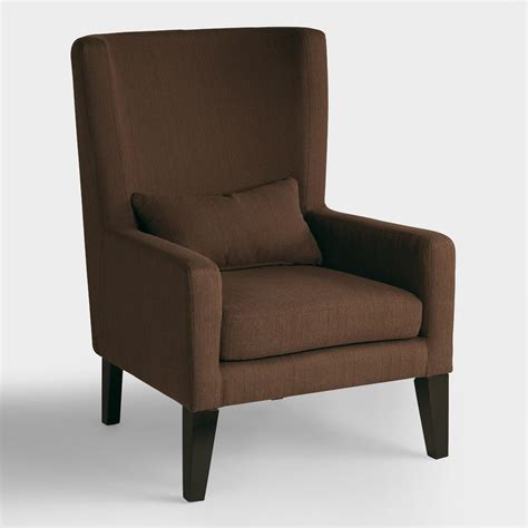 chocolate brown triton high back chair world market