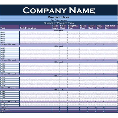 collection  excel tutorials  templates  project