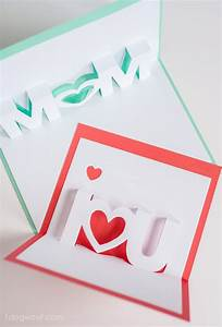 Mom, I Love You Pop Up Cards with Free Silhouette Cut ...