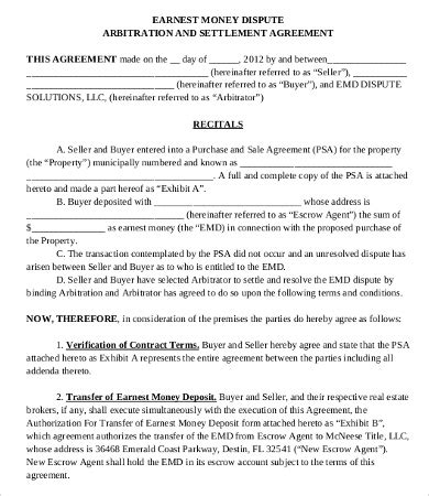 sample money agreement templates word  pages