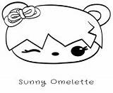 Coloring Omelette Noms Num Sunny Sushi Coloriage Printable Tori Toro Sheets sketch template