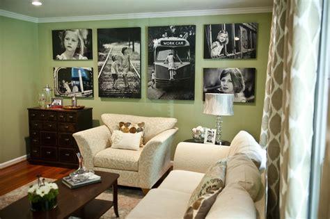 light in bedroom picture frames living room traditional with white couch 12103   Picture frames living room traditional with green walls wood floor living area 1