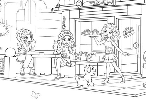 lego friends coloring pages  girls fun coloring pages