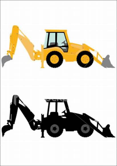 Backhoe Clip Clipart Vector Digger Machinery Cliparts