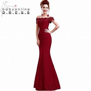 in stock elegant beads lace mermaid long evening dress With robe de soirée zara 2017