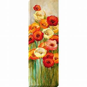 shop 12 in w x 36 in h frameless floral canvas print at With kitchen cabinets lowes with canvas wall art flowers
