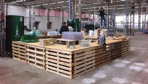 bureau meuble bois comptoir bar événementiel studio trigone