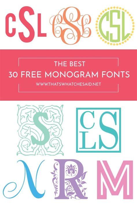 monogram fonts cricut monogram