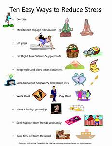 Stress Poster...10 Easy Ways to Reduce Stress