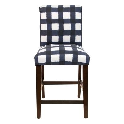 blue buffalo check bar stools counter stool buffalo square blue skyline 7935