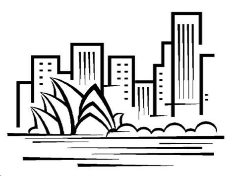 8 Images Of Sydney Opera House Coloring Page
