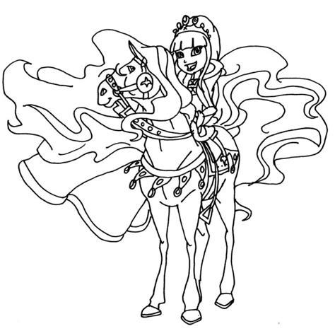 coloriage horseland  dessin gratuit  imprimer