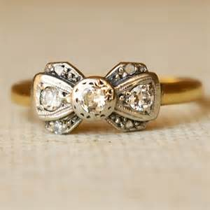1920s engagement rings 1920 39 s platinum 18k gold ribbon bow ring size