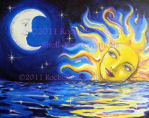 Sun, Moon painting and Brother on Pinterest