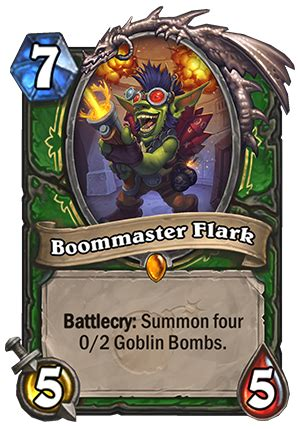 boommaster flark hearthstone card hearthstone top decks