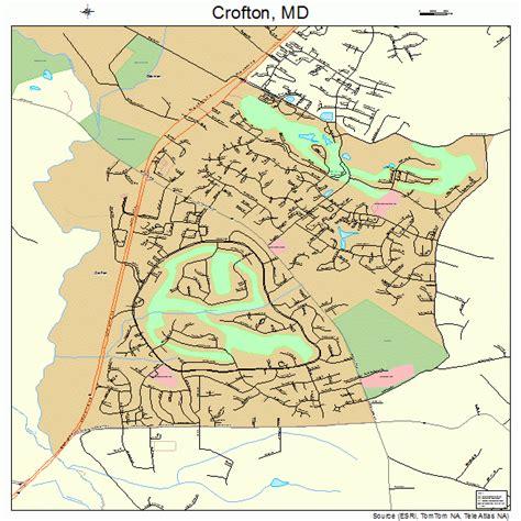 crofton maryland street map 2420875