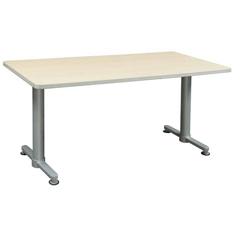 using a table as a desk haworth rectangular used 30 60 inch training table maple