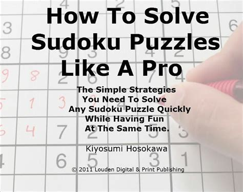 How To Solve Sudoku Puzzles Like A Pro; The Simple