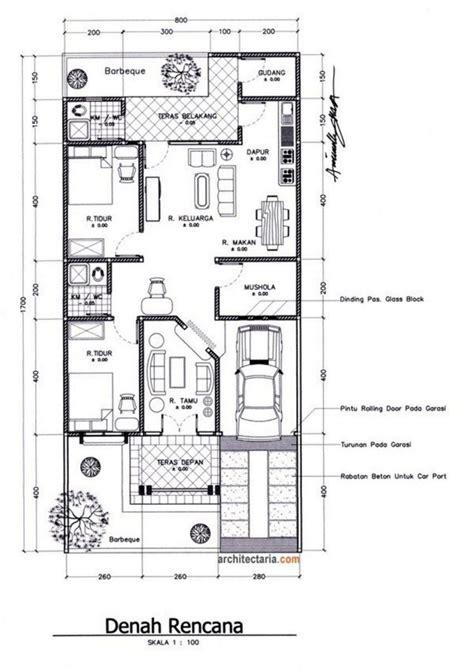 denah rumah  lantai ukuran  top rumah