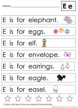 Letter Sentences by Alphabet Letter Sentences To Teach Beginning Sounds