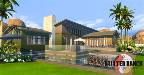 Want to discover art related to sims3ranch? Simsational Designs: Vaulted Ranch: An MCM-Inspired Build Set