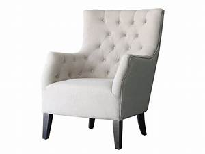 Canapé Et Fauteuil Scandinave : fauteuil scandinave tissu duchesse beige 83705 ~ Teatrodelosmanantiales.com Idées de Décoration