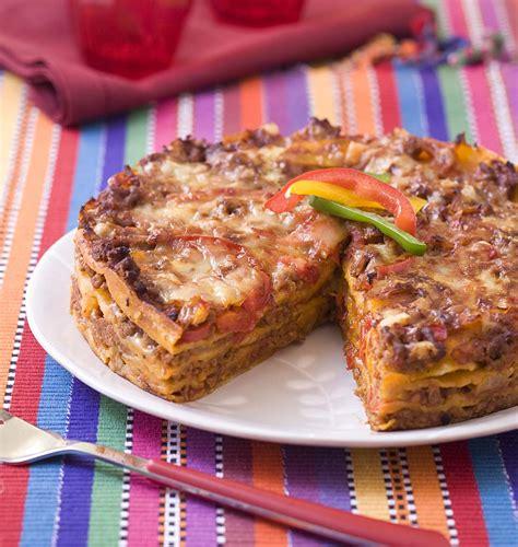 recette de cuisine pour facile lasagne de tortillas au boeuf et poivron les meilleures