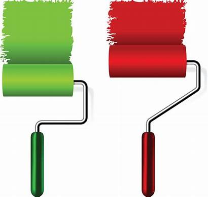 Brush Roller Paint Clipart Icon Vector Clip