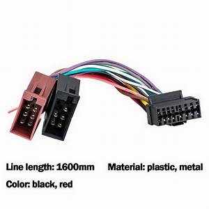 1 Set Wiring Harness Connector Adaptor For Sony 16 Pin Car