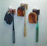 baseball bat glove  hat holders   solid wood
