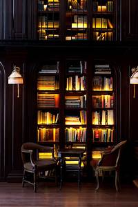 lingered upon the library at the nomad hotel With interior design lighting books