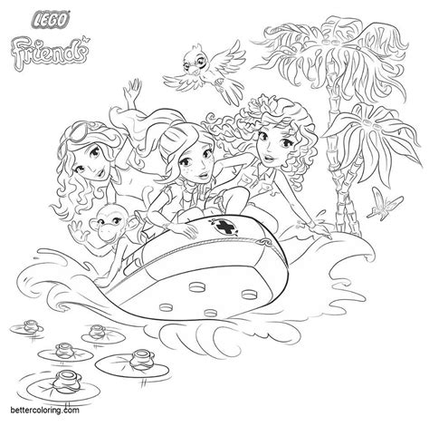 Lego Friends Kleurplaat Printen by Lego Friends Coloring Pages Surfing Free Printable