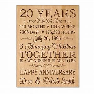 personalized 20th anniversary gift for him20 year wedding With wedding anniversary dates and gifts