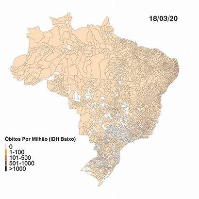 Covid Mapa Brasil Setembro Casos Julho Municipios