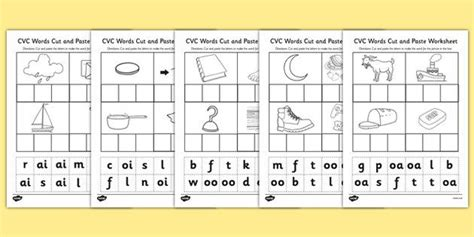 * New * Phase 3 Cvc Words Cut And Paste Activity  Anchor Transition  Cvc Words, Cut, Paste