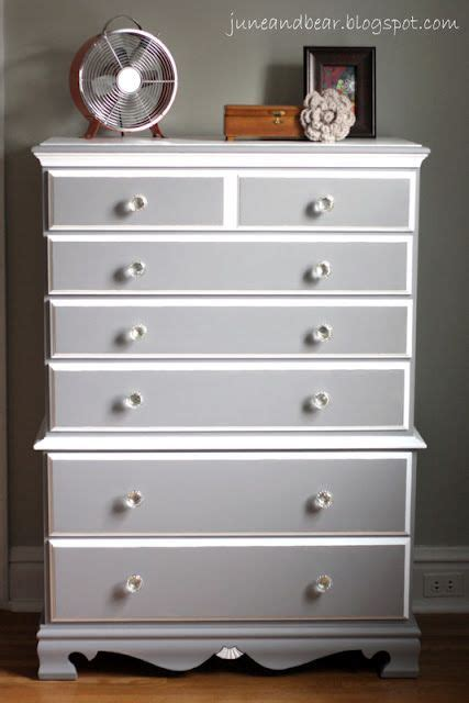diy painted wood dresser  sherwin williams grey