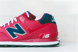 "New Balance 574 ""Pique Polo Pack"" Red/Navy 
