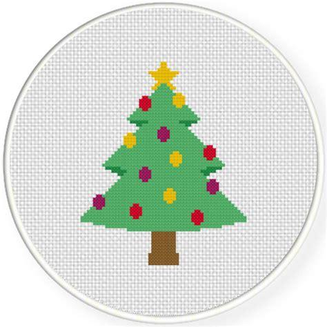 decorative christmas tree cross stitch pattern daily