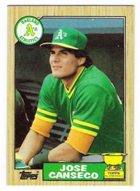 Jan 02, 2012 · baseball cards of a shirtless jose canseco were worth $20 or more. Lot of (20) 1987 Topps Jose Canseco Rookies, Card #620