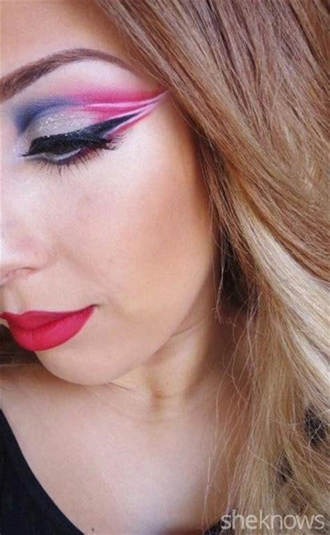 england patriots eye makeup tutorial   gorgeous