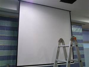 Abtus 60x60 Motorized Projector Screen Installation
