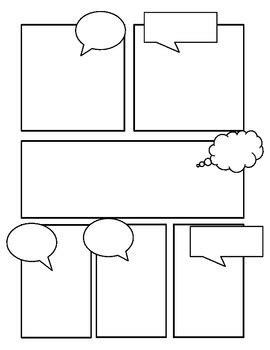 Comic Book Template Comic Templates By Miss Zucchetto Teachers Pay Teachers