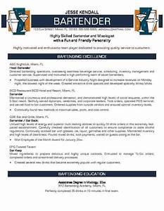 bartending resume template resume templates Gfyork