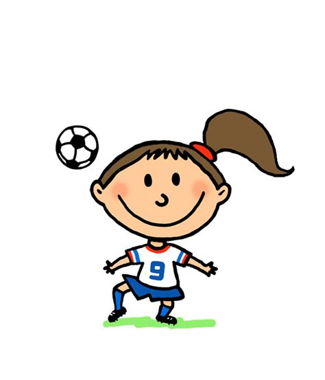 Girls Playing Soccer Animation